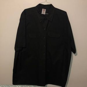 MENS DICKIES BLACK BUTTON UP